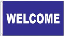 Welcome Blue Shop Sign Advertising POS 5'x3' Flag